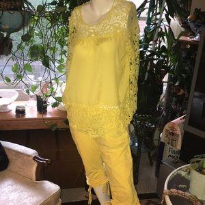 inc Concepts 2 Pc NWOT blouse & Pants Size 2.